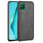 For Huawei P40 lite/Nova7i/Nova6 SE Shockproof Crocodile Texture PC + PU Case(Black)