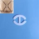 100 PCS Underwear Accessories Bra Non-slip Buckle Invisible Buckle, Style:I-shaped(White)