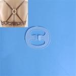 100 PCS Underwear Accessories Bra Non-slip Buckle Invisible Buckle, Style:Oval(Clear)