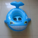 Shark Shape Swimming Seat Inflatable Swimming Ring for Children, with Handle, Size:62 x 52cm(Blue)