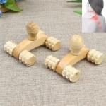 10 PCS Wooden Massage Hand Push Small Four-wheel Body Massage Supplies