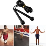 Pen Handle Shaped Small Handle Rubber Skipping Rope for Fitness (Black)