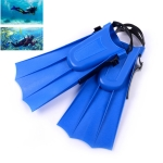 1 Pair Adult Adjustable Fins Swimming Fins Snorkeling Sole, Size:30-35(Blue)
