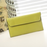 Women Long Leather Wallet Large Capacity Wallet Multi-card Clutch Bag(Lemon Yellow)