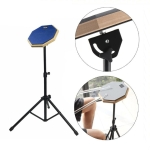 8 Inch Rubber Wooden Dumb Drum Practice Training Drum Pad with Stand(Blue)