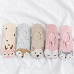 5 PCS Female Cartoon Animal Shallow Mouth Invisible Cotton Sailboat Socks, Color:Pink Animal