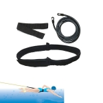 Swimming Resistance Strength Training Equipment Elastic Rope Swimming Equipment, Size:10 x 6 x 4m(Black)