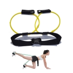 Leg Training Elastic Band Natural Latex Yoga Stretch Band Fitness Supplies, Color:Yellow 10LB