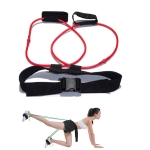 Leg Training Elastic Band Natural Latex Yoga Stretch Band Fitness Supplies, Color:Red 20LB