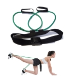 Leg Training Elastic Band Natural Latex Yoga Stretch Band Fitness Supplies, Color:Green 30LB