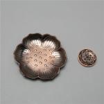 Plum Blossom Carved Incense Plate Incense Stick Suitable for Vertical Incense Burner Incense Holder(Red Copper)