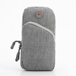 Oxford Cloth Outdoor Sports Arm Bag Storage Bag Fitness Mobile Phone Bag for 5.5-6.5 Inch Screen Phone(Gray)