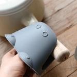 Cartoon Hippo Shape Household Kitchen Insulation Clip Silicone High Temperature Casserole Anti-scalding Clip(Blue)