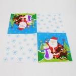 5 PCS Colorful Print Santa Claus Party Decoration Napkin Facial Tissue