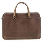 CF3003 For Macbook Pro 13.3 / 13 inch Retro Crazy Horse Texture Zipper Multifunctional Laptop Handbag (Brown)