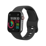 For Apple Wacth 5/4 44mm & 3/2/1 42mm Silicone Replacement Wrist Strap Watchband(Black)