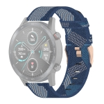 22mm Stripe Weave Nylon Wrist Strap Watch Band for Huawei GT / GT2 46mm, Honor Magic Watch 2 46mm / Magic (Blue)