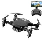 LS-MIN 4K Pixels Foldable RC Quadcopter Drone Remote Control Aircraft, Box Packaging (Black)