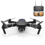 LS-E525 1080P Single Camera Mini Foldable RC Quadcopter Drone Remote Control Aircraft (Black)