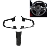 3 in 1 Car Carbon Fiber Solid Color Steering Wheel Button Decorative Sticker for BMW 5 Series G30 X3 G01, Left and Right Drive Universal