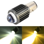 BA20D DC12-80V / 10W / 6000K / 3000K / 800LM Bicolor Motorcycle Headlights with Projector Lens