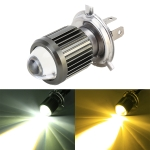 H4 DC12-80V / 10W / 6000K / 3000K / 800LM Bicolor Motorcycle Headlights with Projector Lens
