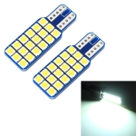 2 PCS T10 / W5W / 168 DC12V 1.8W 6000K 140LM 18LEDs SMD-3030 Car Reading Lamp Clearance Light, with Decoder