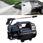 Car / Home 220V Multi-functional Automatic Water Power Washer High Pressure Spray Gun, Long Water Gun + 15m Steel Wire Pipe + Pot + Quick Connect