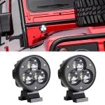 2 PCS 4 inch 25W 6000K 3000LM DC12-30V Motorcycles LED Spotlight A Column Lights, 3LEDs