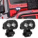 2 PCS 3 inch 20W 6000K DC12-30V Motorcycles LED Spotlight A Column Lights, 2LEDs