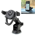 Universal Car Suction Cup Mount Bracket Phone Holder for 6-86mm Mobile Phone (Black)