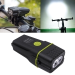 Mountain Bike Light Headlights Super Bright Rechargeable Flashlight Night Riding Equipment (Green)