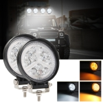 2 PCS 4 inch Round 3-line Herringbone DC10-30V / 15W / 6000K / 3000K / 1050LM Car Headlights Projector Lens Work Light