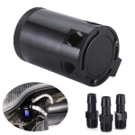Car Universal Compact Baffled Oil Catch Can 3-Port Bilateral Uutlet Oil Can