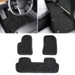 3 in 1 Car Double Anti-skid Wired Ring Foot Mat for Tesla Model 3 (Black)
