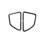 2 in 1 Car Carbon Fiber Tricolor Dashboard Air Outlet Decorative Sticker for BMW E70 X5 / E71 X6 2008-2013, Left Drive