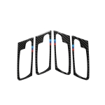 4 in 1 Car Carbon Fiber Tricolor Door Handle Decorative Sticker for BMW 2008-2014 X5 E70 / E71, Left Drive