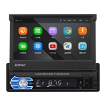 HD 7 inch Single Din Car Android Player GPS Navigation Bluetooth Touch Stereo Radio, Support Mirror Link & FM & WIFI