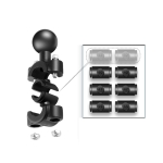 25mm Ball Head Motorcycle Rearview Mirror Fixed Mount Holder with 4 Styles Gaskets for DJI Osmo Action, GoPro HERO8 Black/HERO7 /6 /5, Xiaoyi and Other Action Cameras (Black)