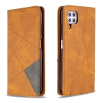 For Huawei P40 Lite Rhombus Texture Horizontal Flip Magnetic Leather Case with Holder & Card Slots & Wallet(Yellow)