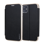 For iPhone 11 CMai2 Linglong Series PC+PU Horizontal Flip Leather Case with Holder & Card Slot(Black)