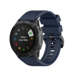 For Garmin Fenix 6X 26mm Quick Release Official Texture Wrist Strap Watchband with Metal Button(Midnight Blue)