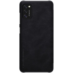 For Galaxy A41 NILLKIN QIN Series Crazy Horse Texture Horizontal Flip Leather Case With Card Slot(Black)