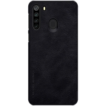 For Galaxy A21 NILLKIN QIN Series Crazy Horse Texture Horizontal Flip Leather Case With Card Slot(Black)