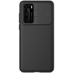 For Huawei P40 NILLKIN Black Mirror Series Camshield Full Coverage Dust-proof Scratch Resistant Mobile Phone Case(Black)