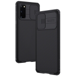 For Galaxy S20 / S20 5G NILLKIN Black Mirror Pro Series Camshield Full Coverage Dust-proof Scratch Resistant Mobile Phone Case(Black)