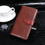 For Galaxy A01 idewei Crocodile Texture Horizontal Flip Leather Case with Holder & Card Slots & Wallet(Wine Red)