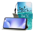 For Xiaomi Redmi K30 Colored Drawing Horizontal Flip Leather Case with Holder & Card Slot & Wallet(Coconut Tree)
