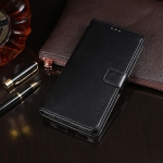 For Doogee X60L idewei  Crazy Horse Texture Horizontal Flip Leather Case with Holder & Card Slots & Wallet(Black)