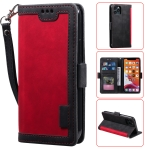 For iPhone 11 Pro Max Retro Splicing Horizontal Flip Leather Case with Card Slots & Holder & Wallet(Red)